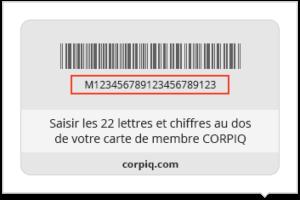 Carte de membre CORPIQ
